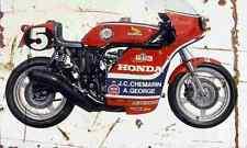 Honda RCB1000 1976 Aged Vintage SIGN A4 Retro