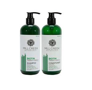 Mill Creek Botanicals BIOTIN  Shampoo & Conditioner Set 14 fl oz (414 ml)