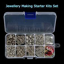 610Pcs Kit Fabrication Bijoux Boîte Perle Chaîne Broche DIY Outil Accessories