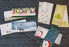 "Five, 8 "" long Christmas holiday greeting cards with cute matching envelopes New"