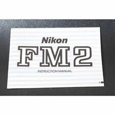 Nikon FM2 Operating Manual / Handbook / Instruction Book / Anleitung Englisch