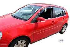 VW Polo 5 DOOR Front wind deflectors 2002 -2009 2pc Internal Fit TINTED HEKO