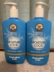 2 Pack Australian Gold Moisture Lock Tan Extender 16 oz After Sun Aloe Vitamin E