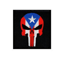 Puerto Rico Flag Punisher Tactical Morale Hook Patch (3.0 inch-PR7)