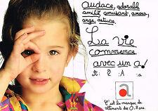 PUBLICITE ADVERTISING 025  1989  ABSORBA 2   vetements enfants  0 à 8 ANS ( 2p)