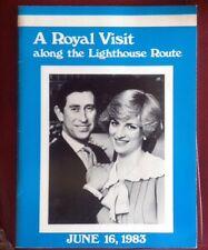Princess Diana Royal Visit Lighthouse Route Nova Scotia 1983 Photo Book