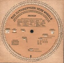 The Cuthbertson Verb Wheels - French - 1933 - Heath and Company