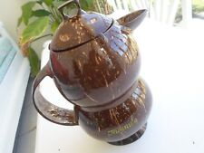 Jamaica Handmade Natural Coconut Shell Water Jug ( Pitcher )  10.5 X 4 in.