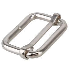 Metal Sliding Bar Tri-glides Wire-formed Roller Pin Buckles Slider 25mm Strap 20