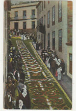 Tenerife Alfombras de Flores Naturales En Orotava Spain Vintage Postcard US025