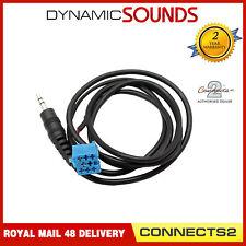 Blaupunkt iPod Car Radio Stereo Aux Input Adaptor(Mini ISO Blue) 3.5mm Jack Lead
