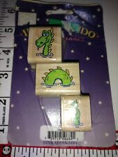 Loch Ness monster, three-piece, inkadinkado in package, C52,wooden,rubber,stamp