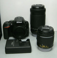 Nikon D5600 DSLR Camera w/ 18-55mm f/3.5-5.6G VR & 70-300mm f/4.5-6.3G Lens