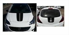 VAUXHALL OPEL CORSA  BONNET AND BOOT Stripes DECALS STICKERS