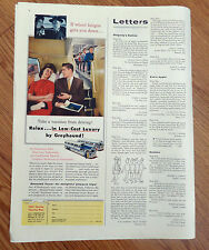 1956 Greyhound Bus Ad  Relax in Low Cost Luxury Take a Vacation from Driving