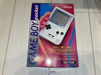 Tested Gameboy pocket Silver Console Boxed Manual MGB-001 Nintendo Japan