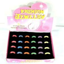 12 GLOW IN THE DARK BAND RINGS jewelry JL267 ring BULK glow womens mens kids NEW