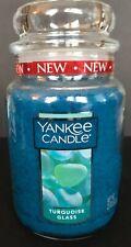 Yankee Candle TURQUOISE GLASS 22 oz Large Jar / Free Shipping