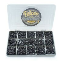 330 ASSORTED 6g 8g 10g BLACK STAINLESS STEEL FLANGE POZI SELF TAPPING SCREW KIT