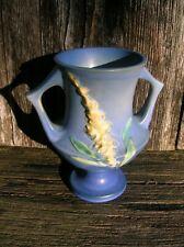 Vintage Roseville Art Pottery 161-6 Blue Foxglove Flower Vase