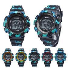 Wasserdicht Cool Herren Jungen Digital LED Quarz Alarm Datum Sport Armbanduhr