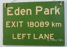 All Blacks Rugby Custom HWY Signs - Your own distance from Eden Park or similar