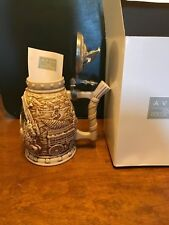 Anheuser Busch Avon World Famous Ceramic Clydesdale Stein Pewter Eagle