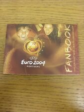 2004 European Championships 2004: Portugal - Official Fanbook. Thanks for viewin