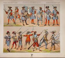 France Militär Uniform Tambour Offizier Musketier Infanterie Piquier Louis XV