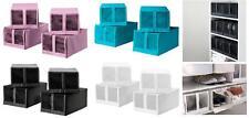 IKEA SKUBB 4x Shoe Box Wardrobe Organiser Storage Pink Turquoise Black White New