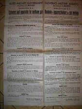 EDITTO GOVERNO MILITARE ALLEATO P. DI ROVIGO BOMBOLE GAS E METANO 1945 (b18-17)