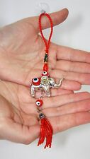 Single Lucky Elephant Trunk Up Red Evil Eye Hanger Charm Feng Shui