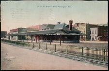 NEW KENSINGTON PA PRR Station Pennsylvania Railroad Depot Station Vtg Postcard