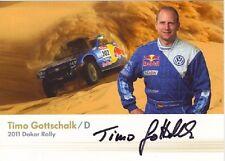 Autogramm, Timo Gottschalk - Volkswagen Motorsport - Dakar Rallye 2011