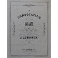 DUSSEK J. L. La Consolation Piano ca1860 partition sheet music score