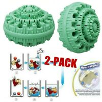 2Pcs Eco-Friendly Laundry Ball Reusable Anion Molecules Cleaning Magic  x r ➥ d
