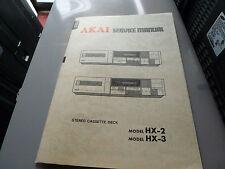 AKAI  HX-2 HX-3 STEREO CASSETTE SERVICE MANUAL