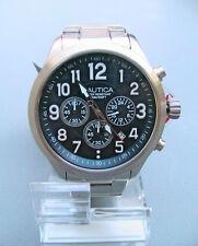 NEW in box Nautica Herren NCC 01 Chrono Analog Blau Zifferblatt Armbanduhr NAD18509G SR 185 $