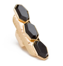 CC Skye Triple Onyx Ring