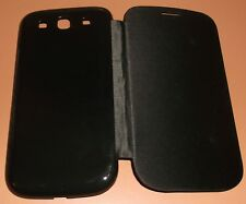 Black Flip Cover case for Samsung Galaxy S III, replaces back battery cover