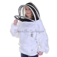 [US] Beekeeping Buzz Vantage White Tunic with Washable Fencing Veil- SIZE: 6XL