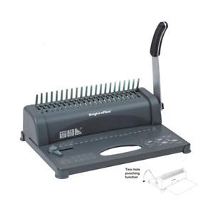 Paper Punch Comb Binding Binder Machine 450 Sheet 21 Hole to Metro