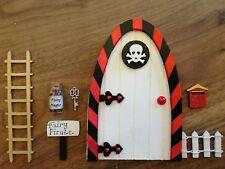Fairy door & , ladder, fairy pirate sign, fairy dust, key