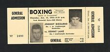 1964 Johnny Bizzarro v Kenny Lane boxing ticket NEARMINT Toran Ivory Kelly Brown