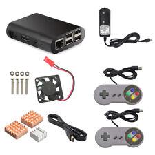 Spielkonsole Kühlkörper+Lüfter+Gehäuse+Fernbedienung für Raspberry Pi 3 Neu