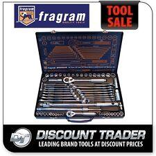 "Fragram 62 Piece 1/4"" & 1/2"" Drive Metric & SAE Socket and Spanner Set - S1509"