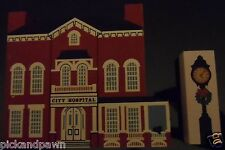 Vintage 1988 The Cat's Meow City Hospital and Holiday Clock Village Building