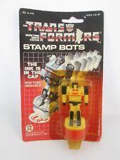 Vintage THE TRANSFORMERS Stamp Bots Jazz - Sealed