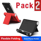 2 Pack Universal Foldable Desk Cell Phone Holder Mount Stand for Samsung iPhone