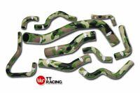 For Nissan Silvia 200SX RPS14 S15 SR20DET Silicone Radiator Hose Kit Camouflage